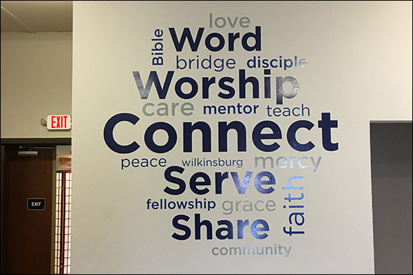 Word Cloud Wall Graphic