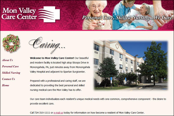 "<a href=""http://www.monvalleycare.com"" target=""_blank"" class=""LinksText"">Visit Mon Valley Care Center Web Site</a>"
