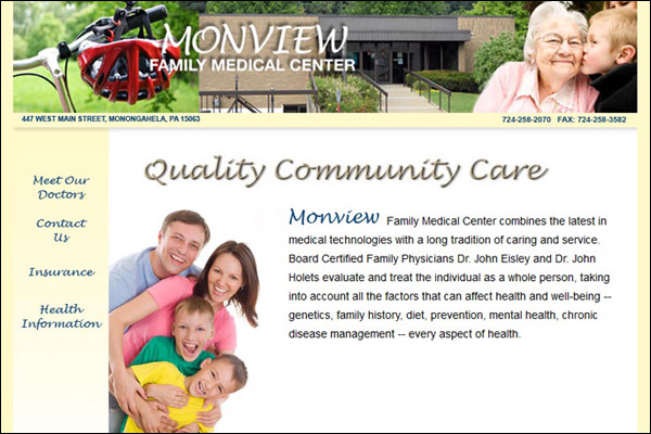 Monview Family Medical Center Web Site