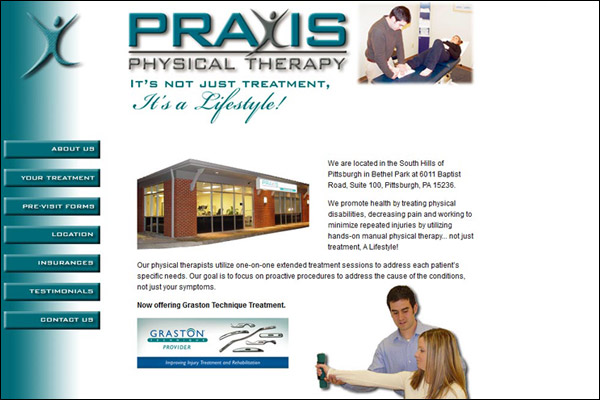 "<a href=""http://www.praxispt.com"" target=""_blank"" class=""LinksText"">Visit Praxis Physical Therapy Web Site</a>"